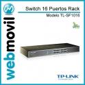 Switch 16 Puertos 10/100 Raqueable