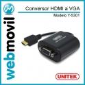 Conversor HDMI a VGA