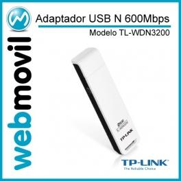 Adaptador USB N 600Mbps Dual Band